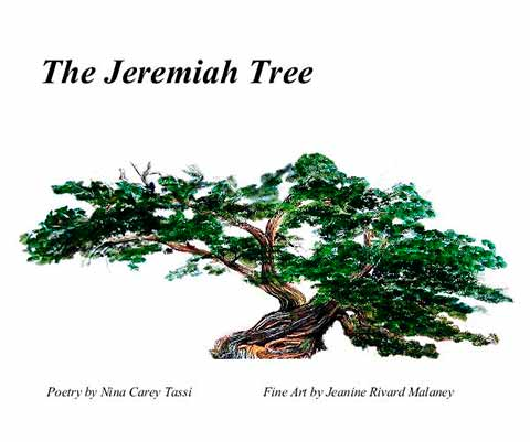 "Poetry book ""the Jeremiah Tree"" cover"